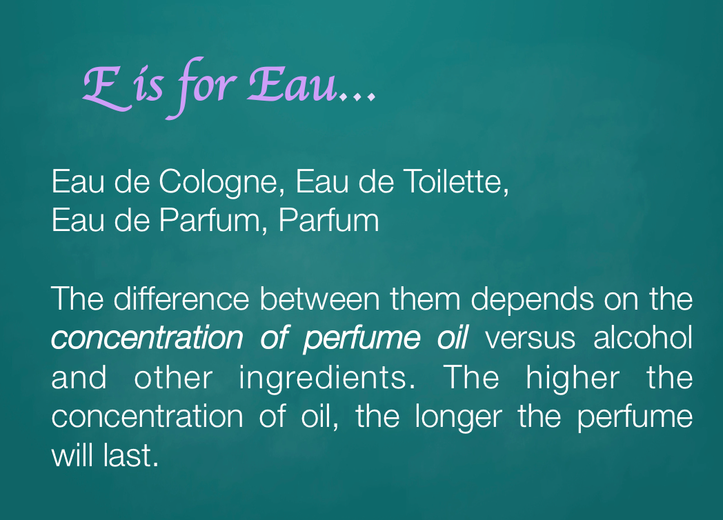 E is for Eau...