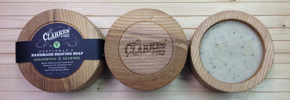 shaving soap flat view Clarke's of Dublin 1000 px